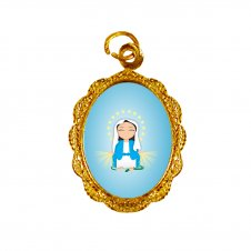 Imagem - Medalha de Alumínio Nossa Senhora das Graças Infantil cód: MANSGID