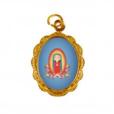 Imagem - Medalha de Alumínio Nossa Senhora da Guadalupe Infantil cód: MANSGI2D