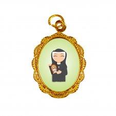 Imagem - Medalha de Alumínio Santa Faustina Infantil cód: MASFID