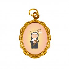 Imagem - Medalha de Alumínio Santa Rita de Cássia Infantil cód: MASRICD
