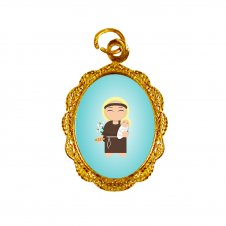 Imagem - Medalha de Alumínio Santo Antônio Infantil cód: MASAID