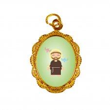 Imagem - Medalha de Alumínio São Francisco de Assis Infantil cód: MASFAID