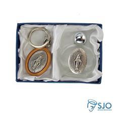 Imagem - Kit Porta Água Benta + Chaveiro da Medalha Milagrosa 02 - 19255402