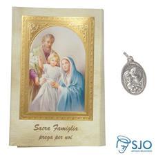 Imagem - Cartão com Medalha Italiana da Sagrada Família - 19127928