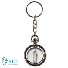 Imagem - Chaveiro Redondo Giratório - Nossa Senhora do Equilíbrio cód: 12646044