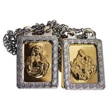 Imagem - Escapulário de Inox Chapinha Dourado cód: 15808737