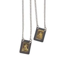 Escapulário de Inox com Dourado