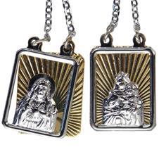 Imagem - Escapulário de Inox Duplo com Dourado  cód: 13924966