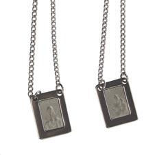 Escapulário de Inox Quadrado Fosco - 30 cm