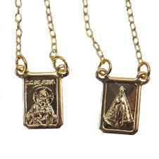 Imagem - Escapulário de Nossa Senhora Aparecida Folheado a Ouro - 12146602