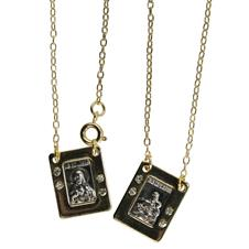 Imagem - Escapulário Retangular de Inox Dourado com Strass cód: 11091268