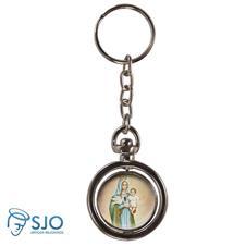 Imagem - Chaveiro Redondo Giratório - Nossa Senhora da Esperança cód: 14195560