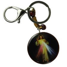 Chaveiro de Madeira de Jesus Misericordioso