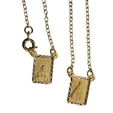 Imagem - Mini Escapulário Dourado Alto Relevo cód: 17351738-3