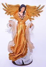 Imagem - Imagem de Resina Anjo Dourada - 45 cm cód: 17116685