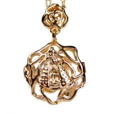 Imagem - Medalha Folheada de Rosa Nossa Senhora Aparecida cód: 16169127