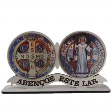 Imagem - Adorno de Mesa Medalha de São Bento cód: 13369248