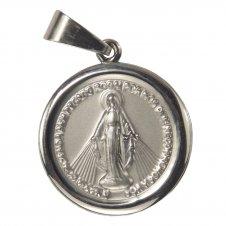 Imagem - Medalha Redonda de Inox de Nossa Senhora das Graças cód: 16155971