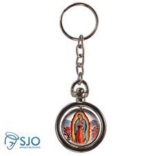 Imagem - Chaveiro Redondo Giratório - Nossa Senhora de Guadalupe cód: 16768130