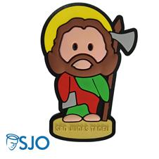 Imagem - Imã Emborrachado São Judas Tadeu cód: 15865381