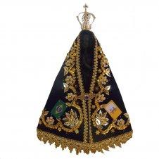 Imagem - Imagem de Nossa Senhora Aparecida com Manto Bordado Especial - 25 cm cód: 10402993