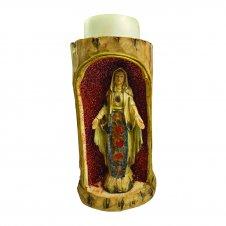 Imagem - Porta Vela de Resina Nossa Senhora das Graças  cód: 16834825