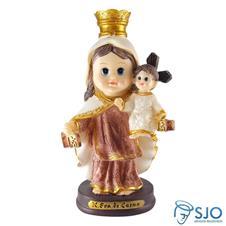 Imagem - Imagem Infantil de Nossa Senhora do Carmo - 15 cm cód: 15833873