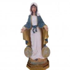 Imagem - Imagem de Resina Nossa Senhora da Medalha Milagrosa - 9 cm cód: NPR2706B
