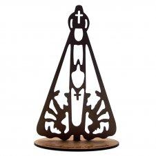 Imagem - Imagem de Madeira de Nossa Senhora Aparecida - 15 cm - 17241554