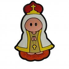 Imagem - Imã Emborrachado Nossa Senhora de Fátima - 16545483