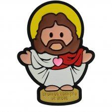 Imagem - Imã Emborrachado Sagrado Coração de Jesus - 13918316