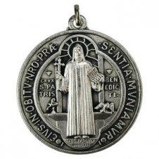 Imagem - Medalhão Folheado Alto Relevo São Bento cód: 18870378-7