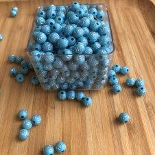 Imagem -  Miçanga Azul com Cruz - 100g cód: MACC100