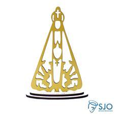 Nossa Senhora Aparecida em Madeira Dourada - 22 cm