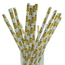 Canudos de Papel Decorativo Girafa - 25 Unidades