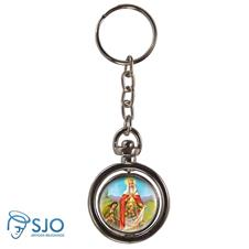 Imagem - Chaveiro Redondo Giratório - Santa Isabel cód: 17158547