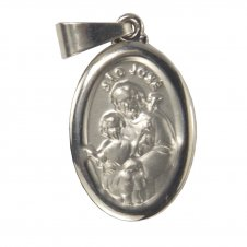 Imagem - Medalha Oval de Inox de São José cód: 12823883
