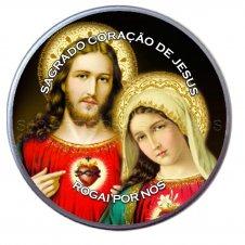 Imagem - Latinha do Sagrado Coração de Jesus e Maria - 10660355