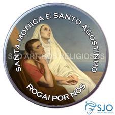 Imagem - Latinha de Santa Mônica e Santo Agostinho cód: 15448364