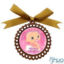 Imagem - Medalhão de Madeira para Lembrancinha de Nascimento cód: 11449232-1