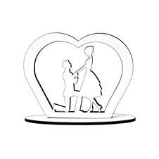 Imagem - Lembrancinha de Casamento Noivos em MDF 02 - 10245448