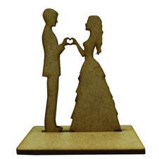 Lembrancinha de Casamento Noivos em MDF - Mod. 11