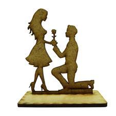 Imagem - Lembrancinha de Casamento Noivos em MDF - Mod. 14 cód: 25874698-2