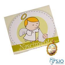 Imagem - Lembrancinhas de Nascimento - Cartão com Medalha - 16826843