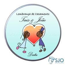 Imagem - Latinha de casamento - Mod.4 - Com caricaturas cód: L09