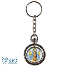 Imagem - Chaveiro Redondo Giratório - Nossa Senhora do Loreto - 11037930