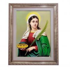 Imagem - Quadro - Santa Luzia - 52 cm x 42 cm cód: 17532662