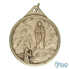 Medalha Redonda Nossa Senhora de Lourdes