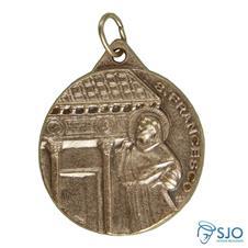 Medalha 3.2 cm Francisco com Clara