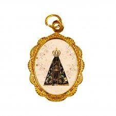 Imagem - Medalha de Alumínio Nossa Senhora Aparecida - Mod. 4 cód: 13236992-19